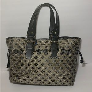 Dooney Bourke Chiara satchel grey black